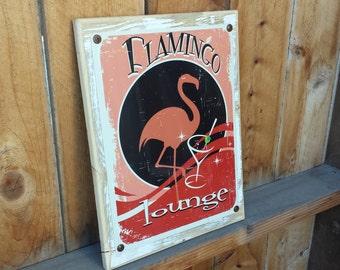 Recycled wood framed flamingo lounge