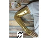 C3PO  inspired Arm Warmers