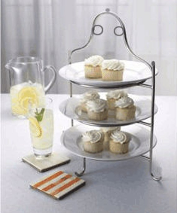 3 Tier Stainless Steel Serving Plate Stand Frame