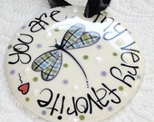 Personalized Ornament // Dragonfly