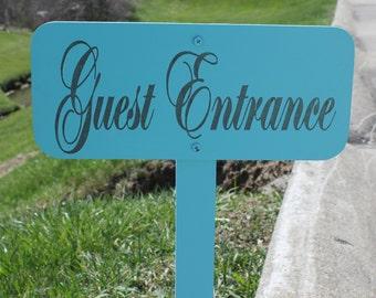 Arrow Wedding Sign Directional/Guest Entrance/Photo Prop/Arrow/U Choose Colors/Great Shower Gift/Light Aqua