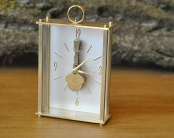 Vintage CORAL 8 Day skeleton Table clock