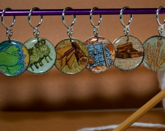 Settlers of Catan Stitch Markers (Setof 6)
