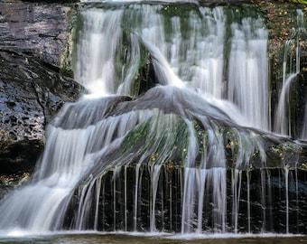 "North Georgia Waterfall Photography, Fine Art Photograph Wall Decor ""Cane Creek Falls"" 8x10 Print (and larger)"