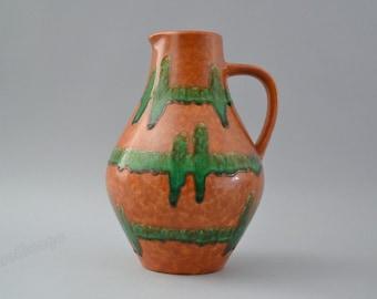 Retro West German pitcher  vase  marked