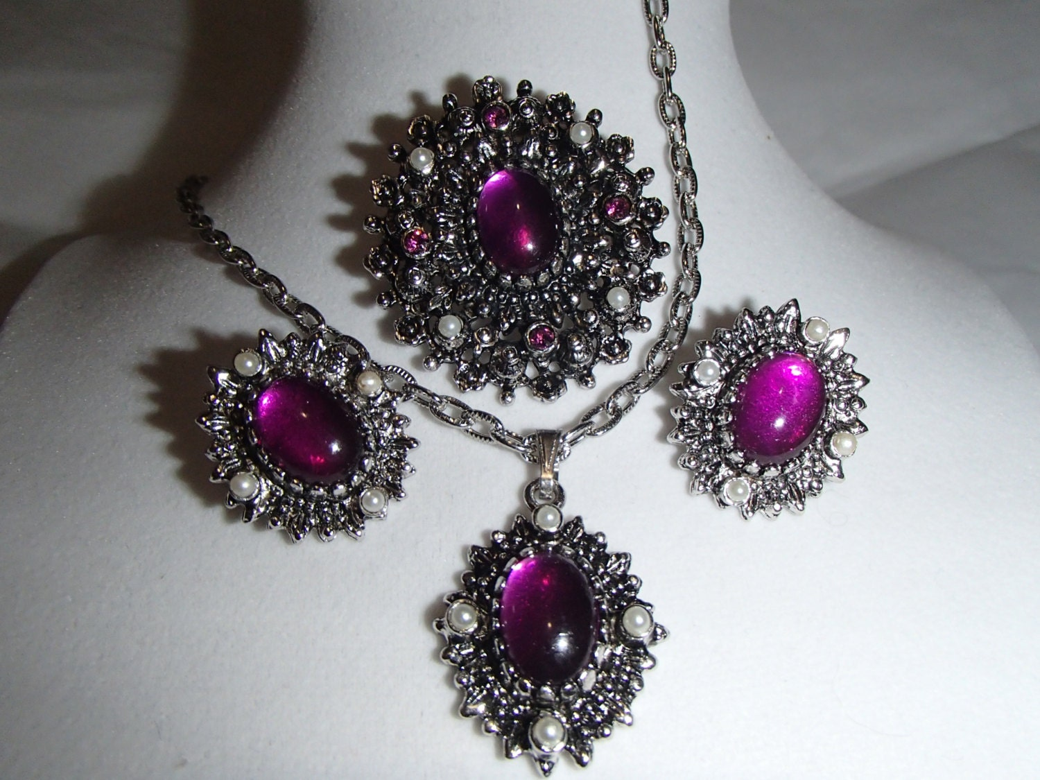 cov jewelry vintage jewelry set coventry catherine antique silver 6764
