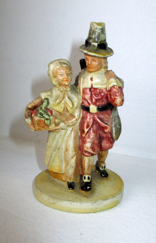 1947 Pw Baston Sebastian Miniature Figurine Sml 72 Pilgrims