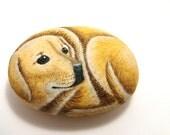 Custom pet portarait - animals painted rocks
