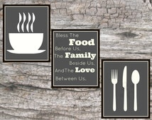 Popular items for dining room print on etsy for Best dining room quotes