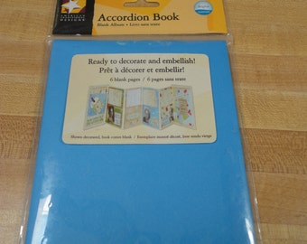 American Traditional Blue Accordion Book
