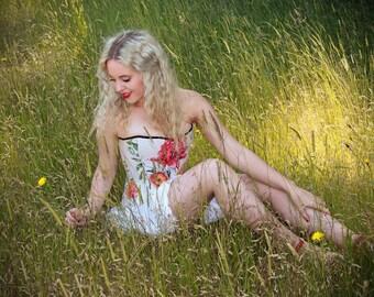 Wild Flowers II overbust corset