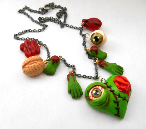 Zombie Love Charm Necklace