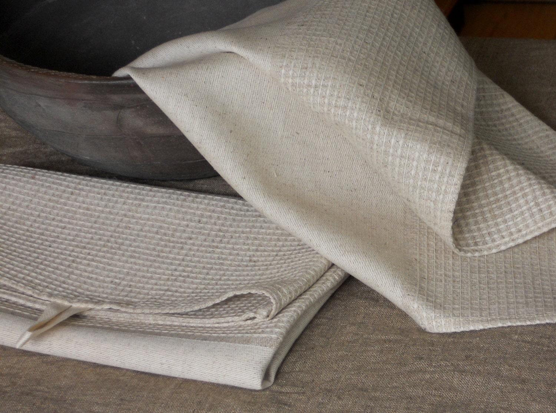 Waffle Linen Kitchen Towels Soft Linen Cotton Tea Towels