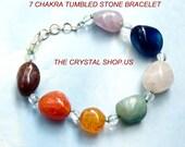 7 Chakra Crystal Tumbled Stone Bracelet
