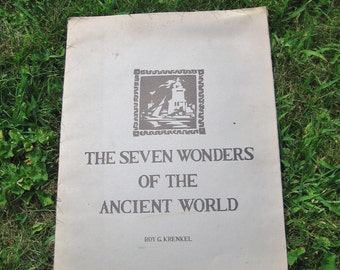 Roy G. Krenkel The Seven Wonders of the Ancient World 1975 Posters Prints