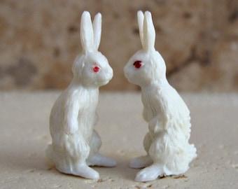 Vintage Miniature Toy Bunny Rabbits