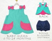 Baby girls sewing pattern pdf, baby sewing pattern pdf, toddler pattern, Childrens sewing pattern, baby clothing sewing pattern, SCANLAN