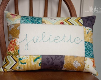 Personalized 12 x 16 Pillow Cover - Made to Order for baby shower, hostess gift, housewarming, wedding, christening, birthday