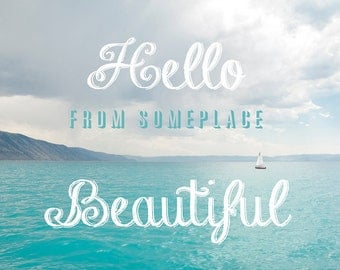 Hello Beautiful-Bear Lake Utah postcard