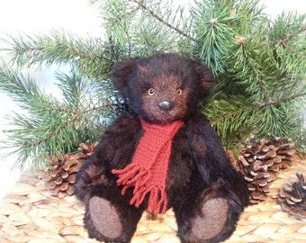 """Mohair teddy bear - George - 27 cm (10,6"""") artist mohair bear, OOAK bear"""