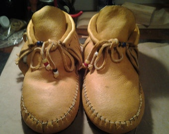 Moosehide Unisex Inca Boot Moccasins, No Out Sole. Lined Or Unlined.