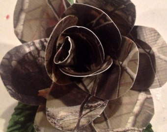 Camo Custom Duct Tape Roses