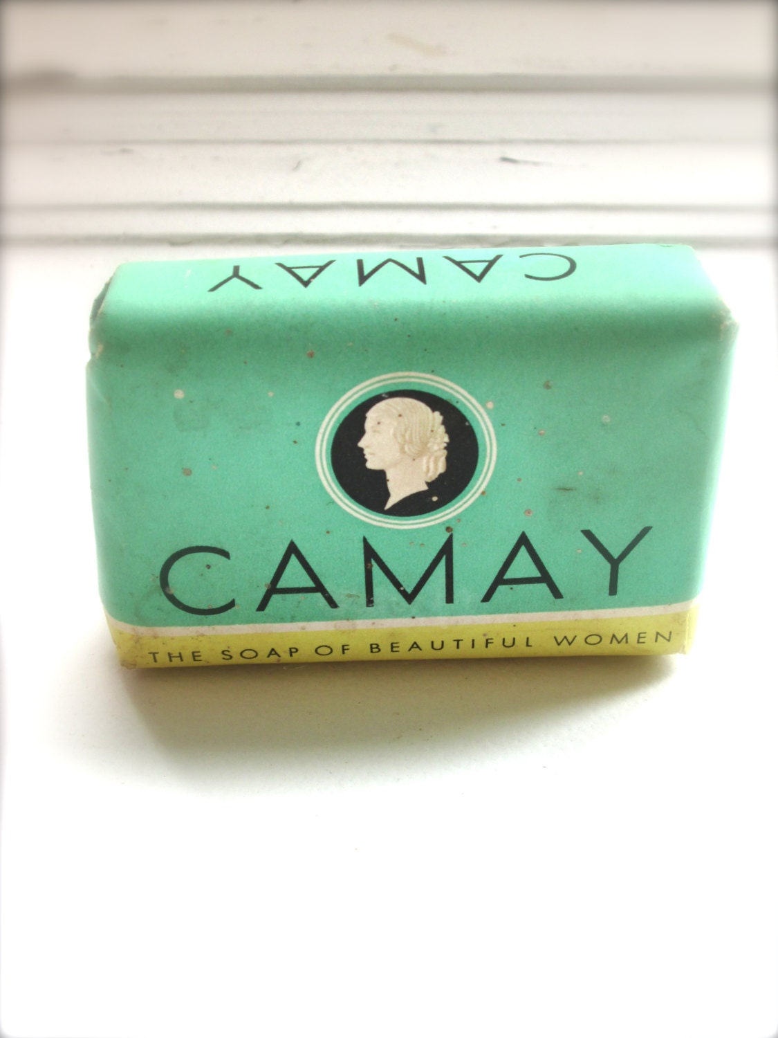 vintage camay soap bathroom decor mint green bathroom