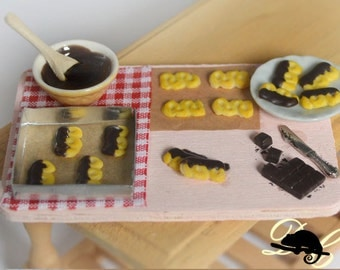 Making Viennese Biscuits Dollhouse Miniature - (In Stock)