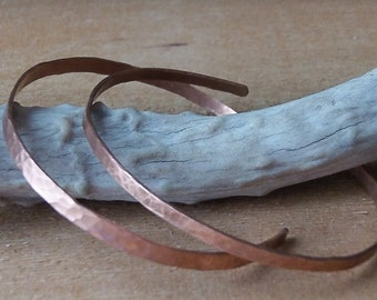 Delicate Hammered Copper Cuff Bracelet