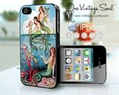 Vintage Mermaids Phone Case, Vintage Mermaids iPhone Case, iPhone Cover, Chiostri Mermaids, Mermaids Phone Case