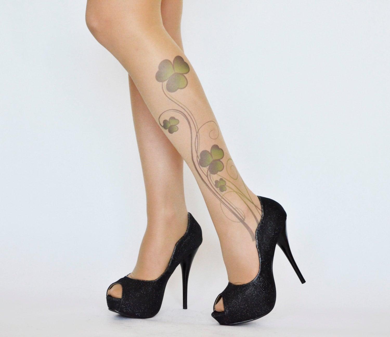 shamrock st patrick u0027s patty day tattoo tightsgreen st