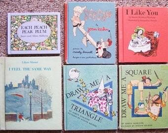 16 Little Children's Books - Storytime/Bedtime/Travel Collection - I Like You, Seesaw, Draw Me a Square, Each Peach Pear Plum - Book Lot