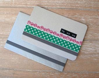 Postcard - Christmas - Star - Washi Tape - Dymo Label - Handmade