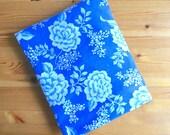 Vintage Cobalt Blue Floral Fitted Sheet, Twin Size