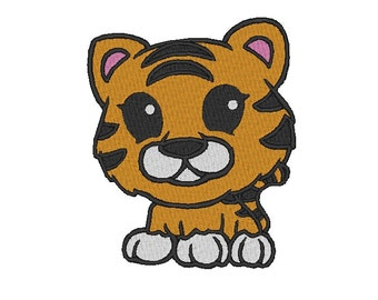 Cute Tiger Embroidery Design