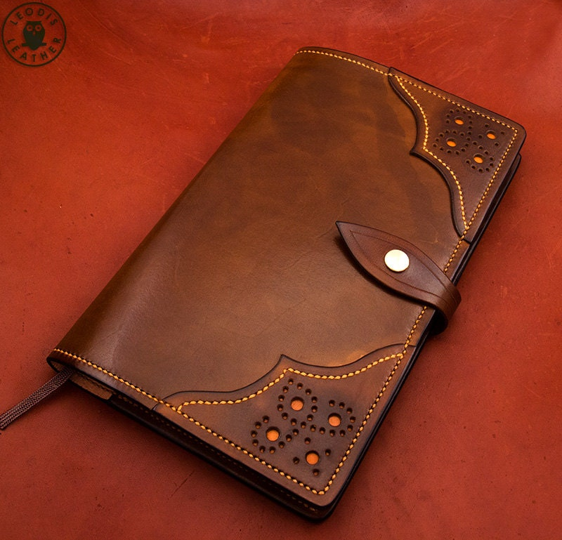 Vintage Book Cover Notebooks : Leather moleskine cover cm notebook antique brown