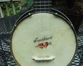 Vintage 1920s SWEETHEART banjo uke (banjolele) w/ Resonator and New Strings and Bridge