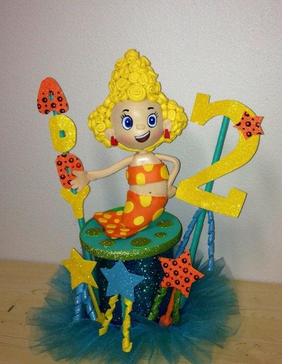 Bubble guppies deema birthday centerpiece cake topper - Bubble guppies center pieces ...