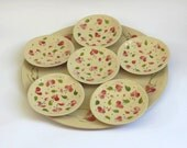 Hand made and painted  Ceramic Passover Seder Plate  A Jewish Judica,  A Set of Serving Plates
