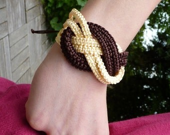 "Son nylon braided ""knot"" marine bracelet"