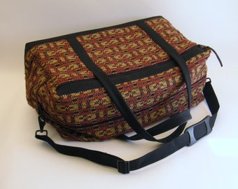 NEW!  Limited Edition Weekender/Carry-On Bag in Luxe Woven Design Fabric