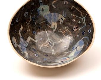 Large stoneware galaxy bowl