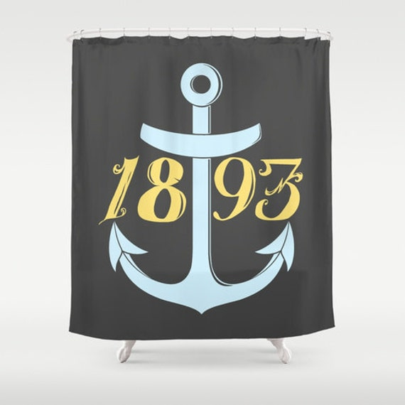 United States Navy Chief Anchor 1893 Shower Curtain by foreverwars