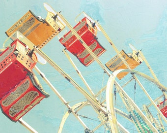 Nursery Photography, Fair,  Ferris Wheel,  Pastel, Playroom Photography, 8x12 print,  Children's Decor, Carnival, Cheerful, Whimsical
