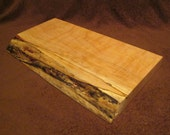 WAS 66 DOLLARS -Live Edge Figured Maple Cutting Board Made From Reclaimed Wood - Organic Wood Cutting Board