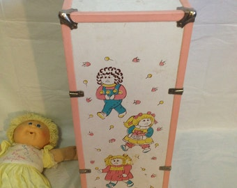 Vintage Antique Cabbage Patch Kid Closet with Doll and Original Clothes