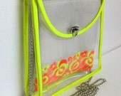 Bag-in-a_bag Embroidered Indian Sling bag - NEON WAVE