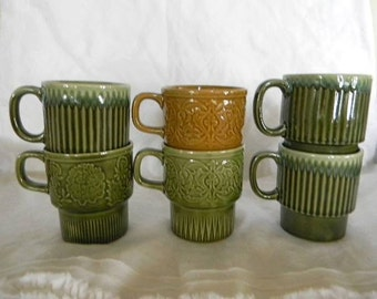 vintage mid century cup or mug collection