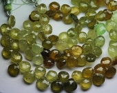 9 Inch Strand, 111 Carats,Super Finest,GROSSULAR GARNET Faceted Onion Shape Briolettes,7-7.5mm