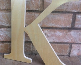 11 to 16 Inch Unfinished Wooden Letter